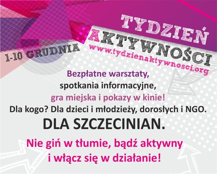 10-cio dniowy Tydzień Aktywności w Szczecinie!